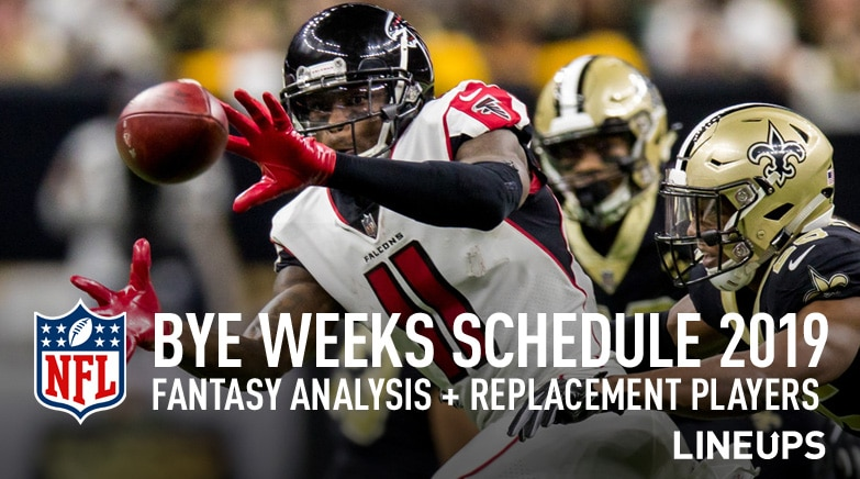 picture about Nfl Week 7 Printable Schedules titled NFL Bye Months 2019: Bye Months Program (Myth Soccer)