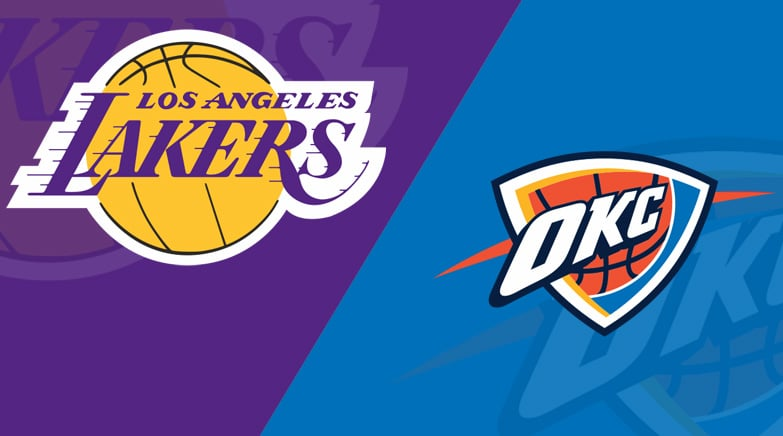 new arrivals a86e7 7a7ac Los Angeles Lakers at Oklahoma City Thunder 4/2/19: Starting ...
