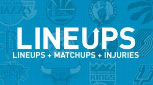 NBA Lineups, Matchups and Injury News 4/3/19