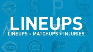 MLB Projected Starting Lineups, Matchups and Injury News 3/29/19