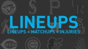 MLB Projected Starting Lineups, Matchups and Injury News 5/16/19