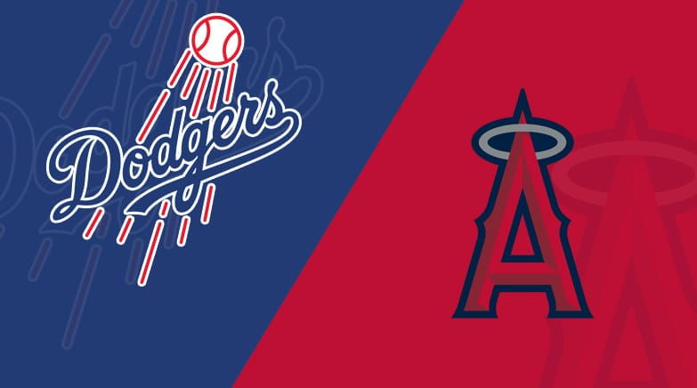 los angeles angels  los angeles dodgers  starting lineups matchup preview betting odds