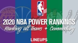 2020 NBA Power Rankings (Updated 11/15/2019)