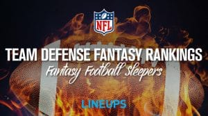2019 Team Defense Fantasy Football Rankings