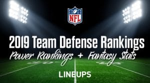 2019 NFL Team Defense Rankings: Fantasy Football Stats & Projections