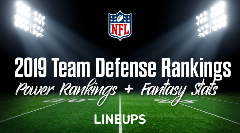 2019 Nfl Team Defense Rankings Fantasy Football Stats