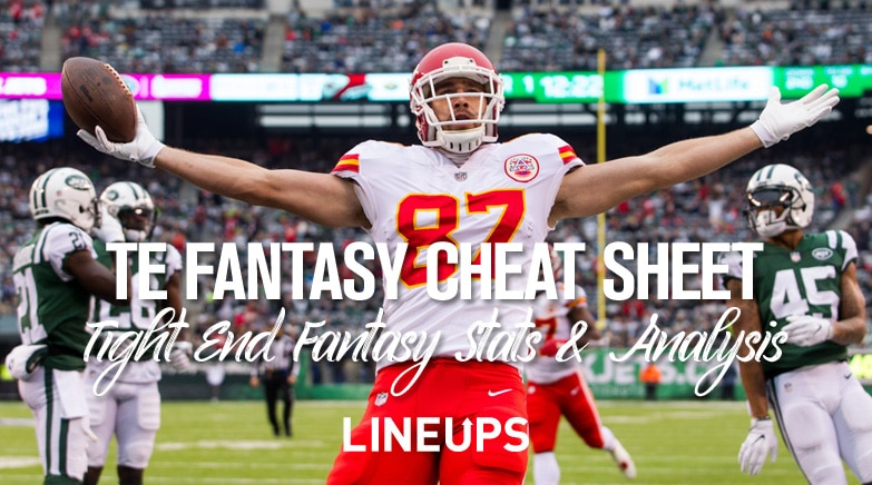 Best Tight Ends For Fantasy Football 2019 2019 Tight End Fantasy Football Cheat Sheet: TE Stats & Projections