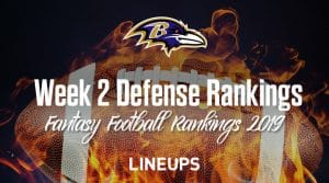 Week 2 NFL Team Defense Fantasy Football Rankings (Stats & Projections)