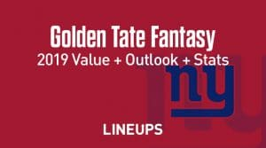 Golden Tate Fantasy Football Outlook & Value 2019