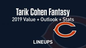 Tarik Cohen Fantasy Football Outlook & Value 2019