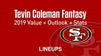 Tevin Coleman Fantasy Football Outlook & Value 2019