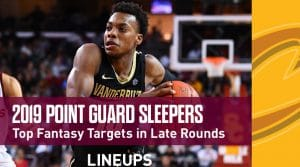 Point Guard Sleepers + Late Round Values: Fantasy Basketball 2019