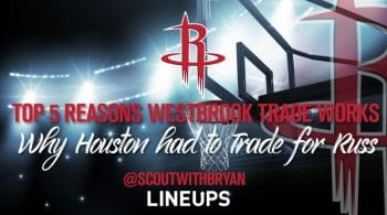 Top 5 Reasons Russell Westbrook Will Work in Houston