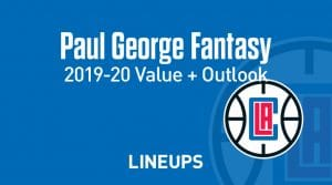 Paul George Fantasy Outlook & Value 2019-2020