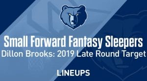 Small Forward Sleepers + Late Round Values: Fantasy Basketball 2019