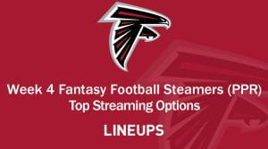 Fantasy Football Streamers for Week 4 (PPR)