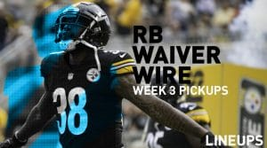 Week 3 RB Waiver Pickups & Adds: Running Back Fantasy FAAB Bids