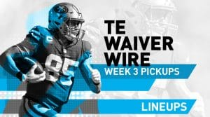 Week 3 TE Waiver Pickups & Adds: Fantasy Football FAAB Bids, % Owned