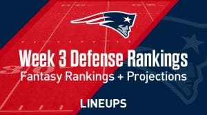 Week 3 NFL Defense (DEF) Fantasy Football Rankings: Stats & Projections