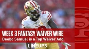 Week 3 Waiver Wire Pickups & Adds: Fantasy Football 2019