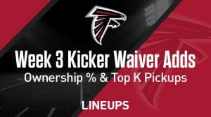 Week 3 Kicker Waiver Wire Pickups & Adds:  Fantasy Football Ownership %
