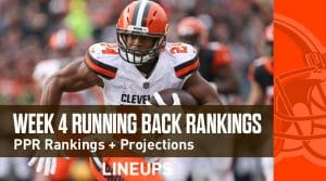 Week 4 RB Rankings PPR: Running Back Fantasy Stats & Projections