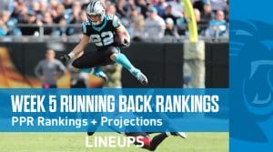 Week 5 RB Rankings PPR: Running Back Fantasy Stats & Projections