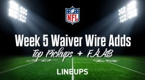 Week 5 Waiver Wire Pickups & Adds: Fantasy Football 2019