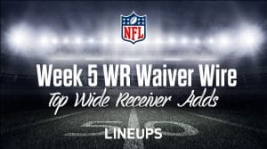 Week 5 WR Waiver Pickups & Adds: Fantasy Football FAAB Bids, % Owned