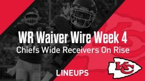 Week 4 WR Waiver Pickups & Adds: Fantasy Football FAAB Bids, % Owned