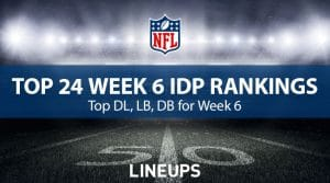 Top 24 Defensive Players (IDP) For Week 6