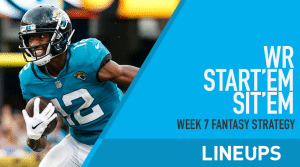 Week 7 WR Start'em, Sit'em: Wide Receiver Fantasy Football Strategy
