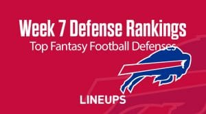 Week 7 NFL Defense (DEF) Fantasy Football Rankings: Stats & Projections
