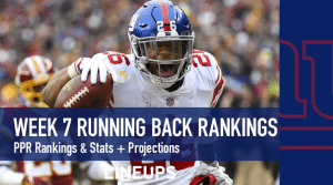Week 7 RB Rankings PPR: Running Back Fantasy Stats & Projections
