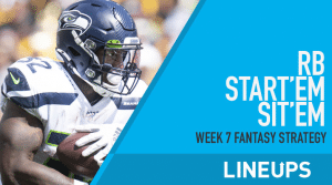 Week 7 RB Start'em, Sit'em: Running Back Fantasy Football Strategy