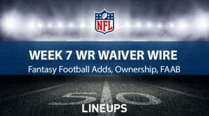 Week 7 WR Waiver Pickups & Adds: Fantasy Football FAAB Bids, % Owned