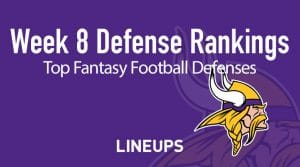 Week 8 NFL Defense (DEF) Fantasy Football Rankings: Stats & Projections