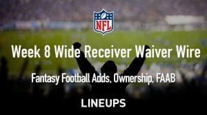 Week 8 WR Waiver Pickups & Adds: Fantasy Football FAAB Bids, % Owned