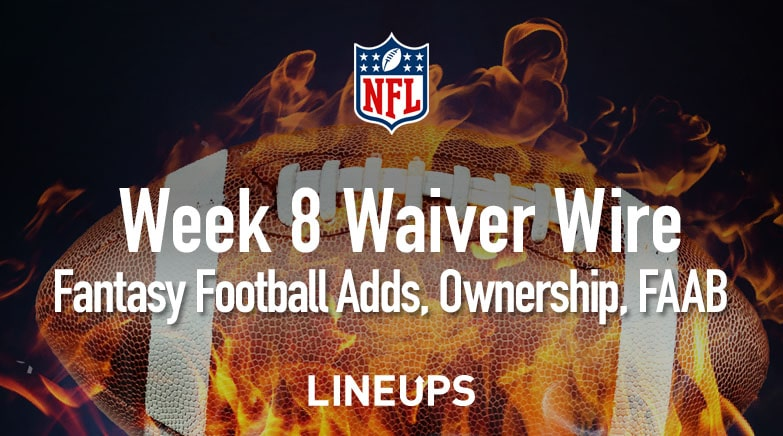 Week 8 Waiver Wire Pickups Adds Fantasy Football 2019