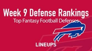 Week 9 NFL Defense (DEF) Fantasy Football Rankings: Stats & Projections