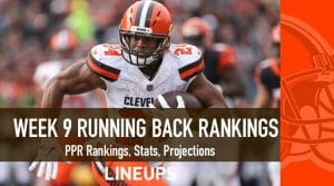 Week 9 RB Rankings PPR: Running Back Fantasy Stats & Projections