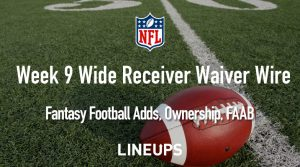 Week 9 WR Waiver Pickups & Adds: Fantasy Football FAAB Bids, % Owned