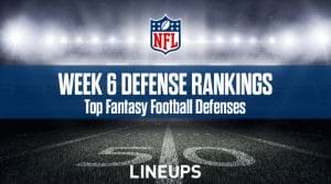 Week 6 NFL Defense (DEF) Fantasy Football Rankings: Stats & Projections