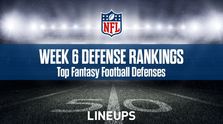 Week 6 Nfl Defense Def Fantasy Football Rankings Stats