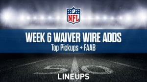 Week 6 Waiver Wire Pickups & Adds: Fantasy Football 2019