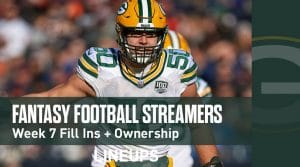 Fantasy Football Streamers for Week 7 (PPR)