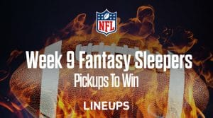 Fantasy Football Sleepers for Week 9: Pickups to Win