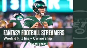 Fantasy Football Streamers for Week 6 (PPR)
