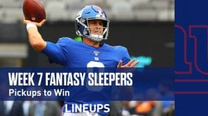 Fantasy Sleepers Week 7: Pickups to Win