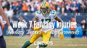 Fantasy Football Injury Status: Week 7